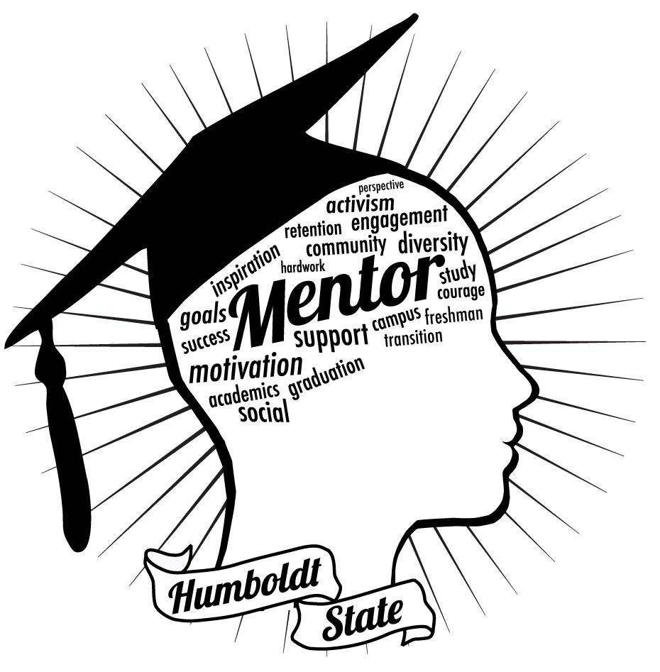 Ramp Mentor Image- Profile of a face with a graduation Cap