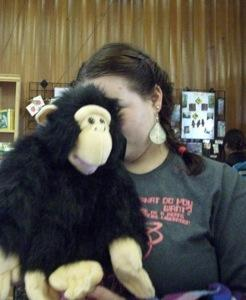 Jess with Monkey